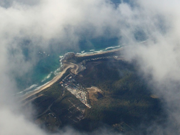Fingal Head from the air.
