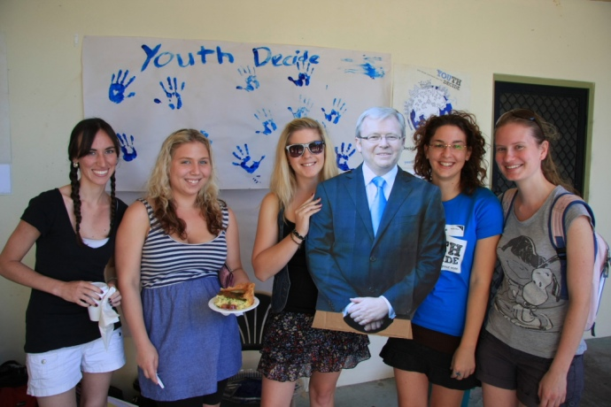 Helped organise and run a Youth Decide event at Griffith...