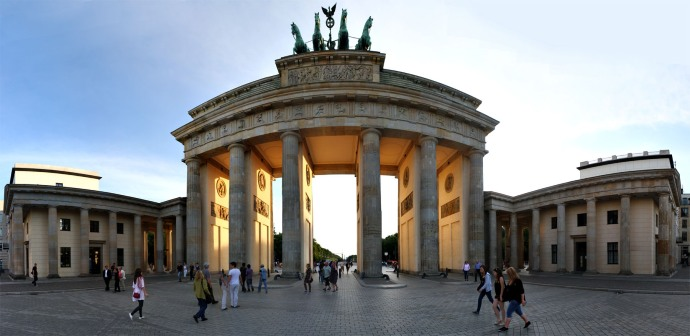 Brandenburger Tor on sunset