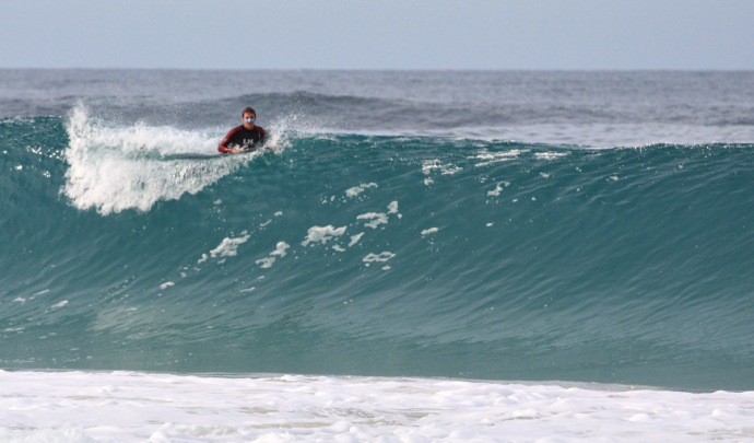 Deciding against a wave at Westcape