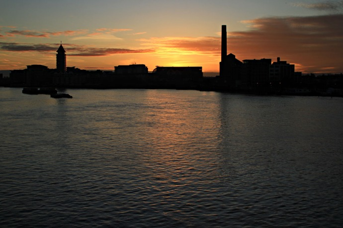 Sunset from Battersea Bridge