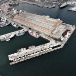Overlooking the docks...