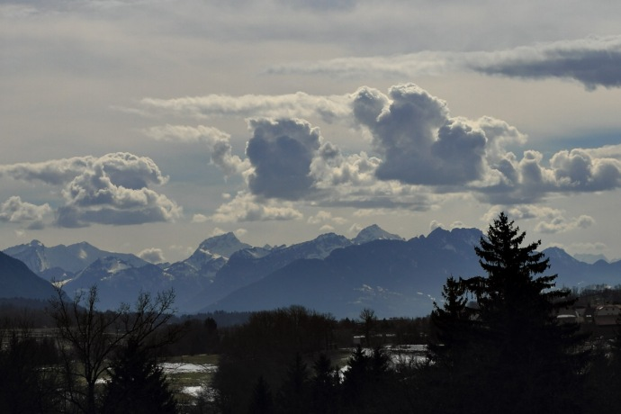 Alps and clouds
