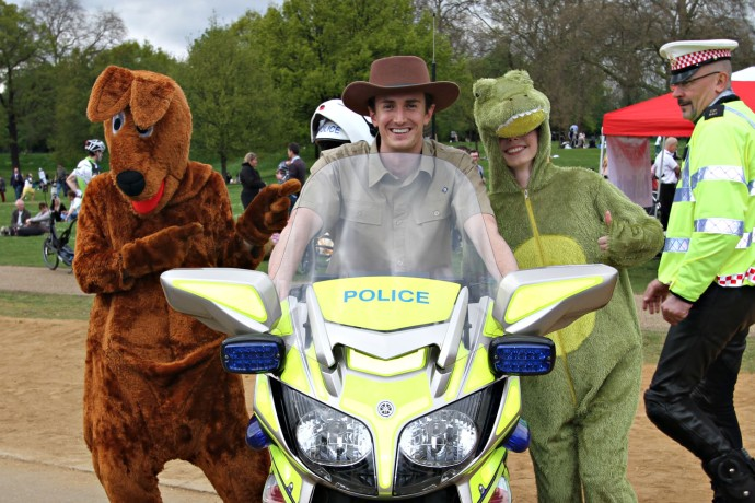 Image of Dave on a police motorbike