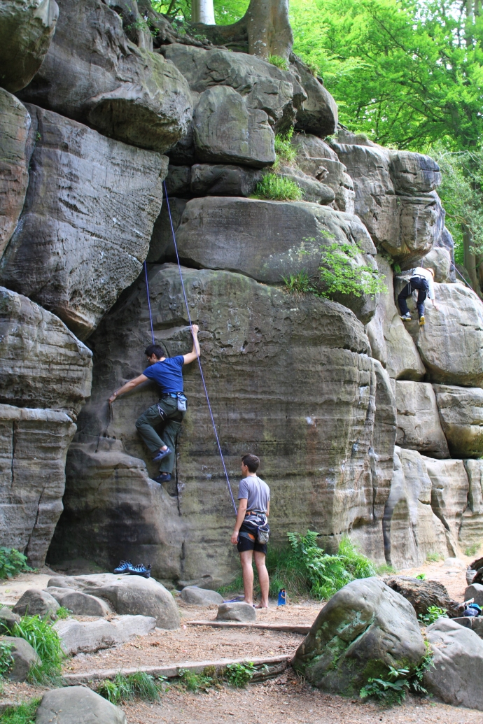 An image of Harrisons Rocks climbing top roping