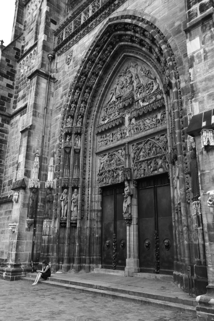 An image of cathedral doors in Germany.